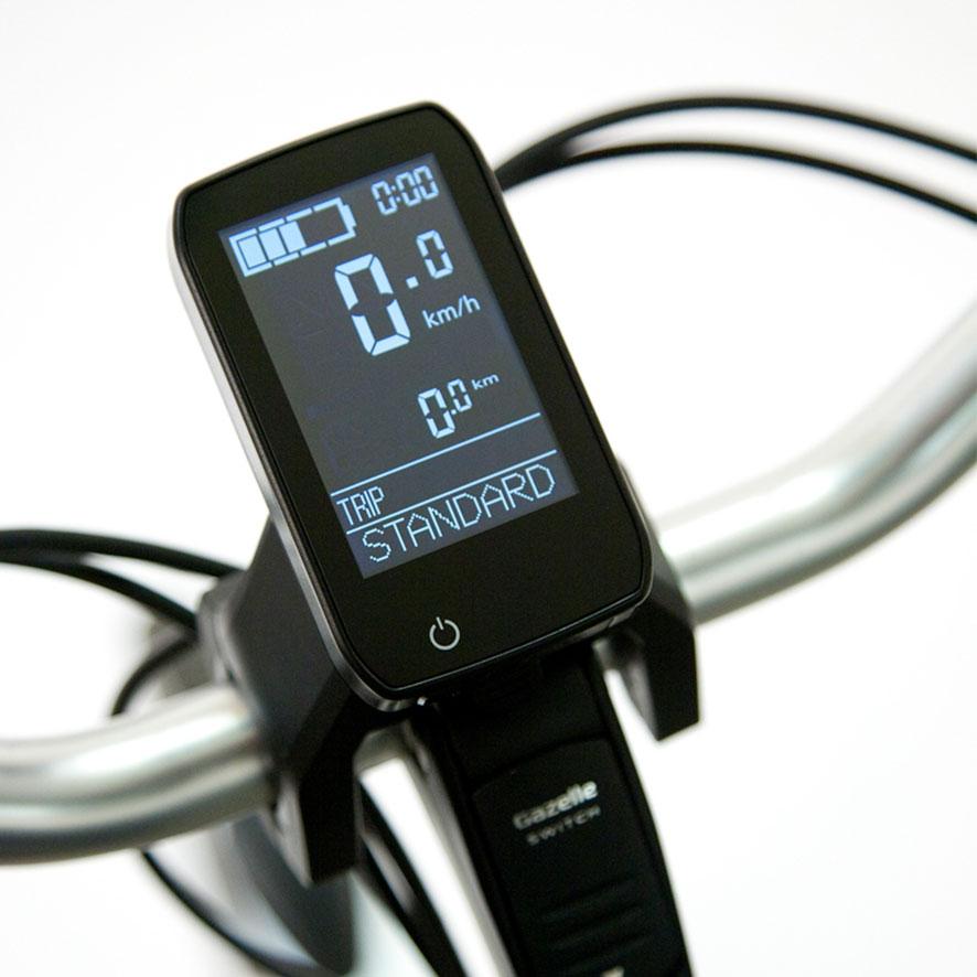 Bei einem Panasonic Vorderradmotor haben Sie je nach Fahrradmodell ein Seiten- oder Mitteldisplay.