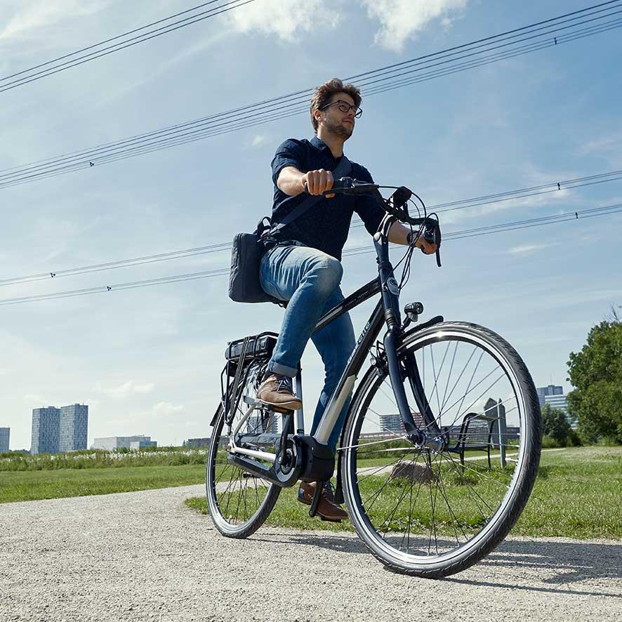 Der Akku bestimmt weitgehend, über wie viel Kilometer Sie Unterstützung von Ihrem Elektro-Fahrrad erhalten (Reichweite).